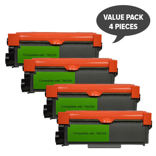 TN-2350 Premium Generic Toner Cartridge X 4