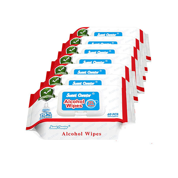 6 Pack Wipes Alcohol Hand Surface Use