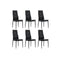 6 Pcs Artificial Leather Black Dining Chairs