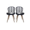 6 Pcs Dining Chairs Black Natural Rattan