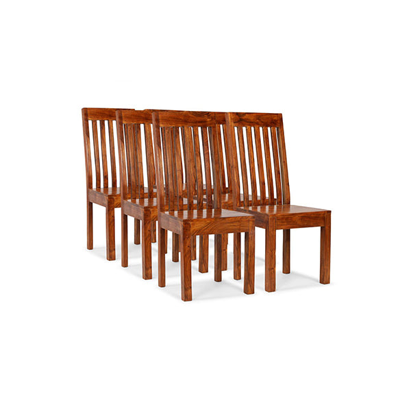 6 Pcs Dining Chairs Solid Wood With Sheesham Finish Modern