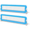 2 Pieces Blue Toddler Safety Bed Rail 150x42cm