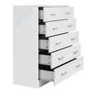 6 Drawer Tallboy Bedroom Storage