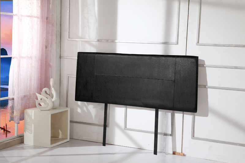 PU Leather Queen Bed Headboard Bedhead Black