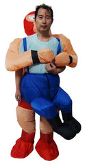 Fan Operated Costume - Wrestler Fancy Dress Inflatable Suit