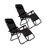 2 x Black Lounge Chairs