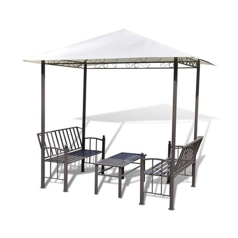 Garden Pavilion With Table And Benches 2.5 x 1.5 x 2.4 M