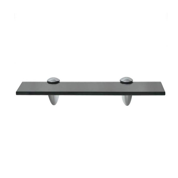 Floating Shelf Glass 30 x 10 Cm 8 Mm Black