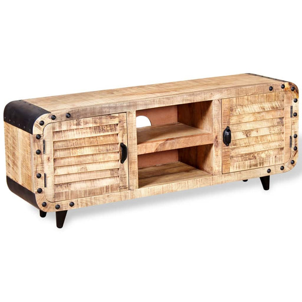 TV Cabinet Rough Mango Wood 120 x 30 x 50 Cm