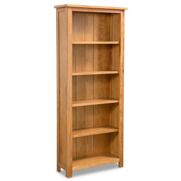 5-Tier Bookcase Oak 60 x 22.5 x 140 Cm