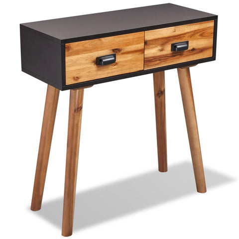 Console Table Solid Acacia Wood 70 x 30 x 75 Cm