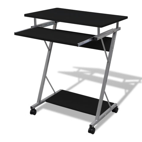Computer Desk Pull Out Tray Office Student Table Black