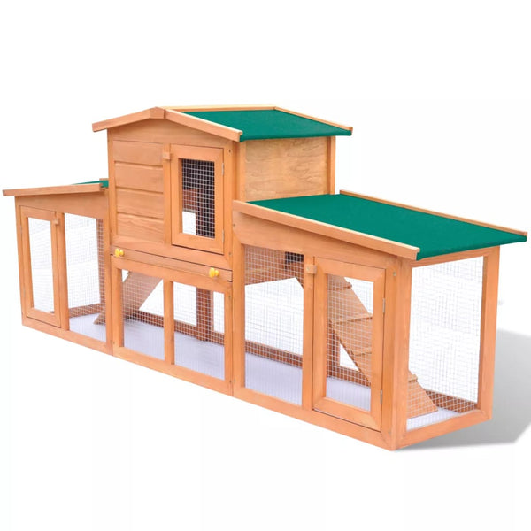 Small Animal House Pet Cage With Roofs Wood