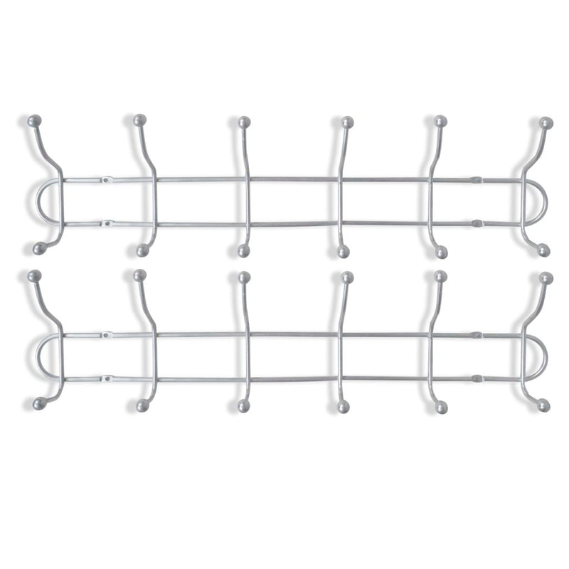 12 Hooks Steel Wall Peg Board (2 pcs.)