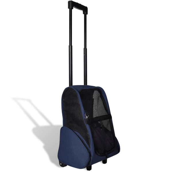 Blue Foldable Multipurpose Pet Trolley