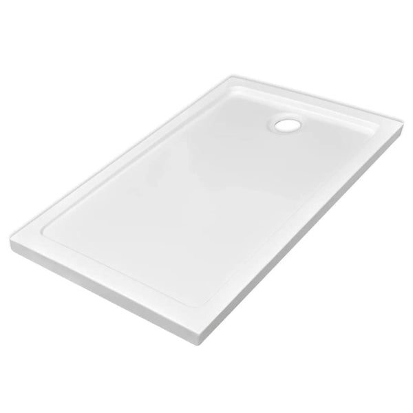 Rectangular ABS Shower Base Tray White 70 x 120 Cm