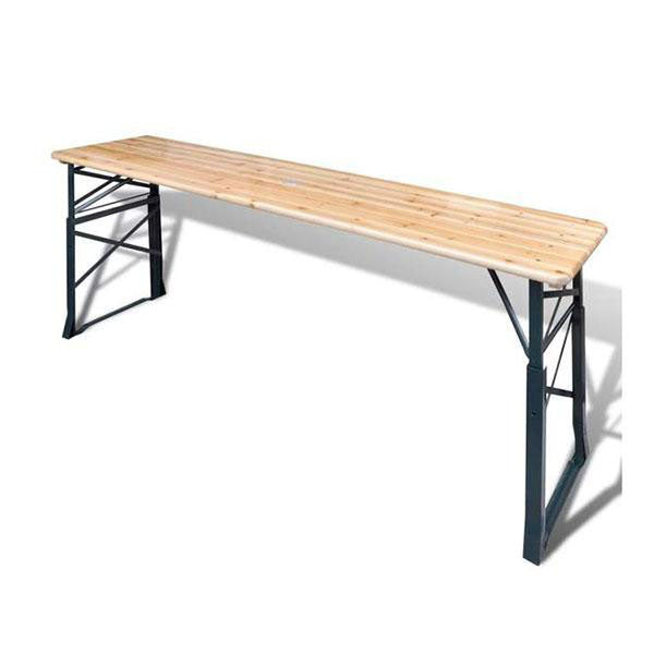 Foldable Beer Table 179 x 50 x 75/105 Cm Pinewood