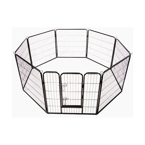 8 Panel Heavy Duty Pet Dog Playpen Exercise Fence Enclosure Cage