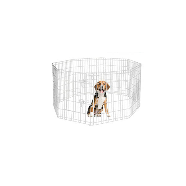 8 Panel Pet Dog Playpen Exercise Enclosure Fence With Door
