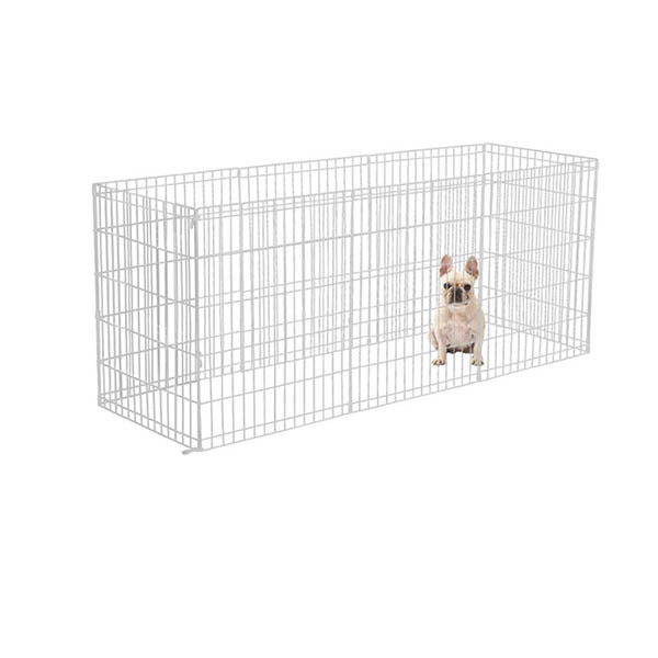 8 Panel Pet Dog Playpen Puppy Exercise Fence Silver Extension No Door