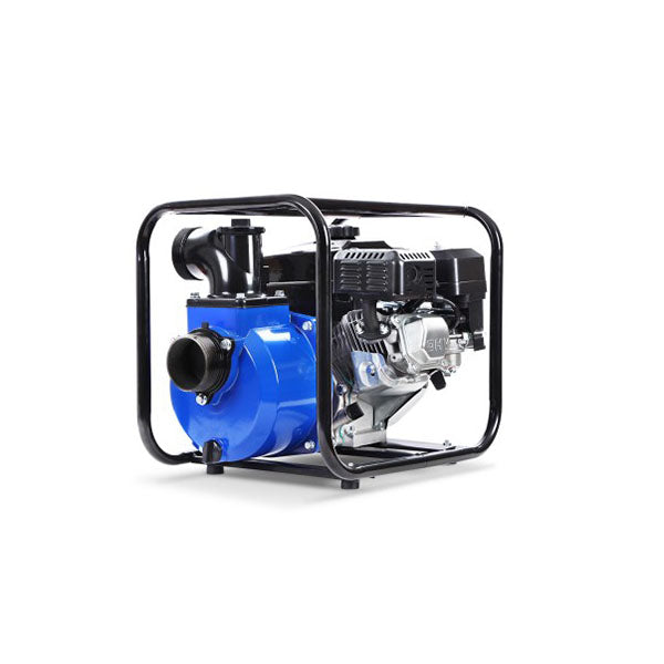 8 Hp 3 Inch Petrol Water Pump Garden Irrigation Transfer Blue