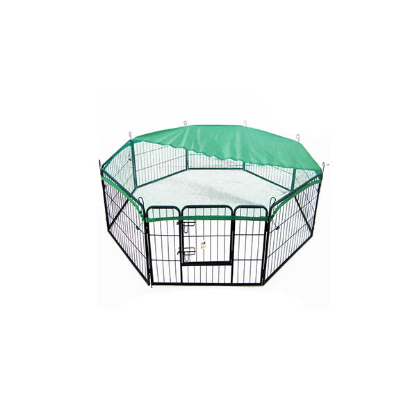 8 Panel Foldable Pet Playpen 31 Inch Cover Green