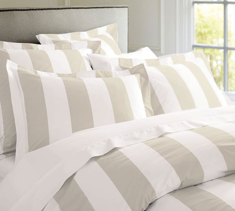 Oxford Stripe Quilt Cover Set - Double