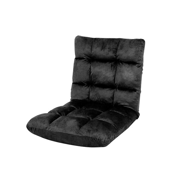 Adjustable Cushioned Floor Gaming Lounge Chair 100 X 50 X 12 Cm Black