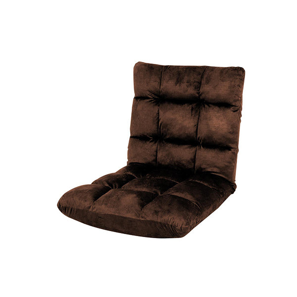 Adjustable Cushioned Floor Gaming Lounge Chair 100 X 50 X 12 Cm Brown