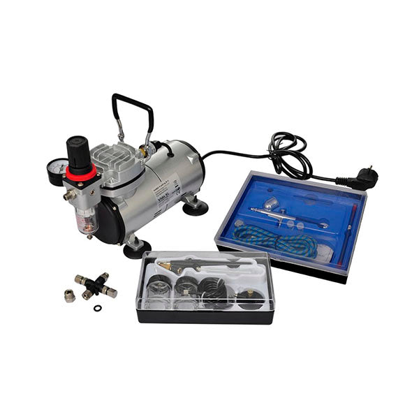 Airbrush Compressor Set With Two Pistols
