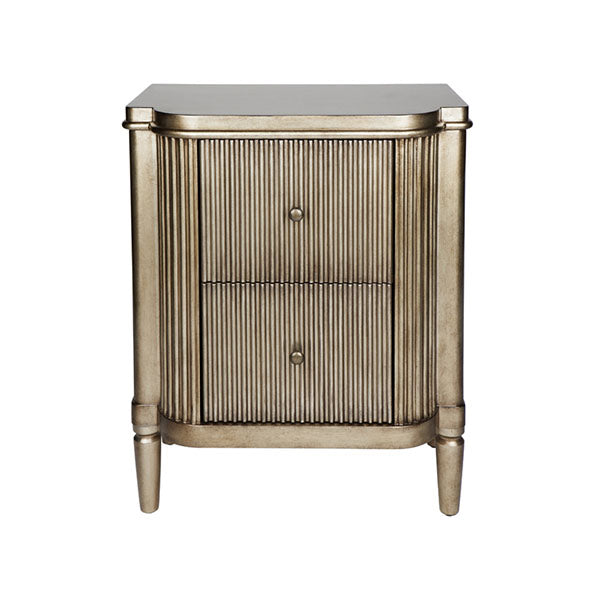 Arielle Bedside Table Antique Gold
