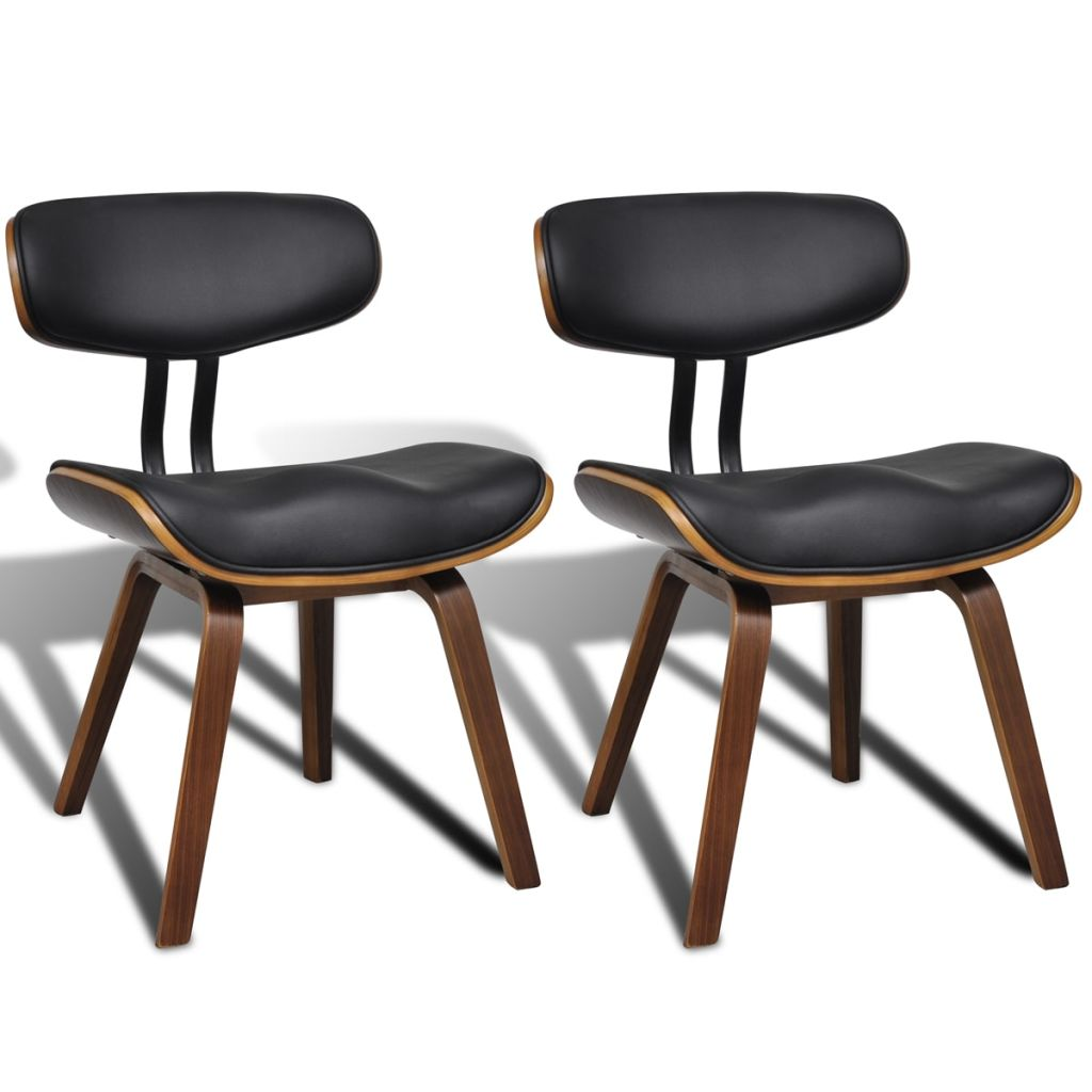 Artificial Leather Dining Chairs With Backrest (2 Pcs)
