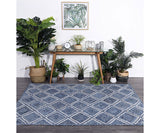 Artisan Natural Parquetry Rug - Denim
