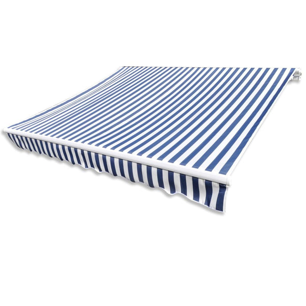 Awning Top Sunshade 6x3m Canvas - Blue & White