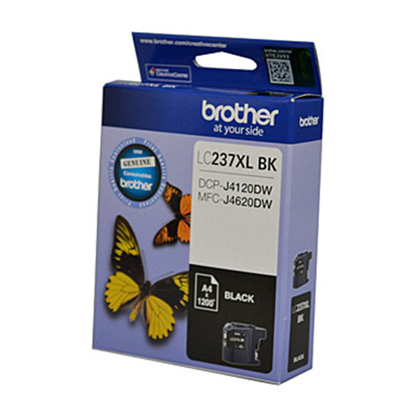 Brother LC237XL Black Ink Cart Up To 1200 Pages