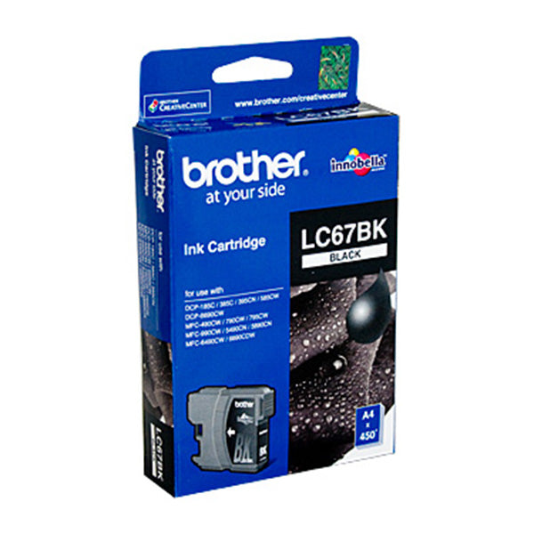 Brother LC67 Black Ink Cartridge 450 Pages