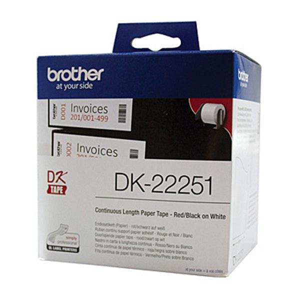 Brother DK22251 White Roll