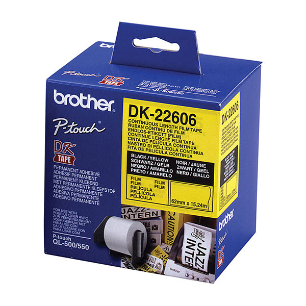 Brother DK22606 15.24 Meters Yellow Roll