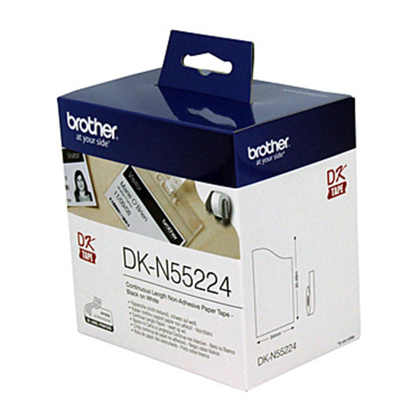 Brother DKN55224 White Roll Labeling Tape