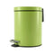 Soga Foot Pedal Stainless Steel Garbage Waste Trash Bin Round 7L Green