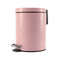 Soga Foot Pedal Stainless Steel Garbage Waste Trash Bin Round 12L Pink