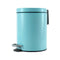 Soga Foot Pedal Stainless Steel Garbage Waste Trash Bin Round 7L Blue
