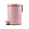 Soga Foot Pedal Stainless Steel Garbage Waste Trash Bin Round 7L Pink