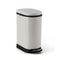 Soga Foot Pedal Stainless Steel Garbage Waste Trash Bin 10L U White