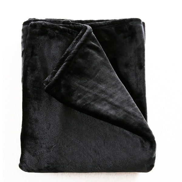 Dreamz 320Gsm 220X240 Cm Ultra Soft Mink Blanket Warm Throw In Black