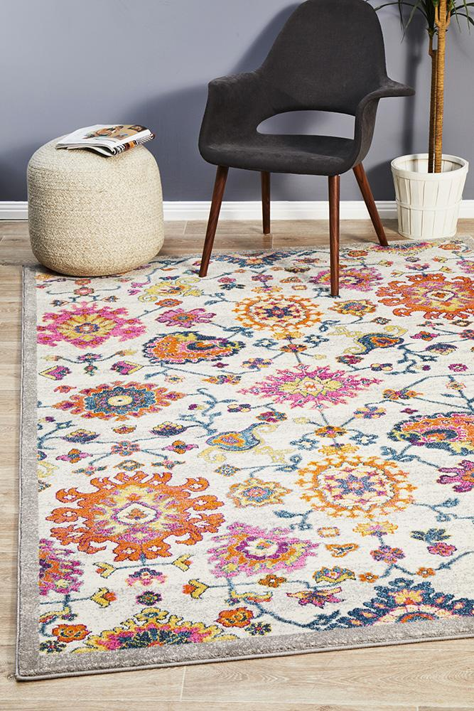 Babylon Multi Coloured Floral Rug