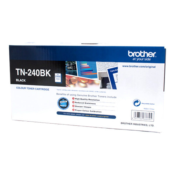 Brother TN240 Black 2,200 Pages Toner Cartridge