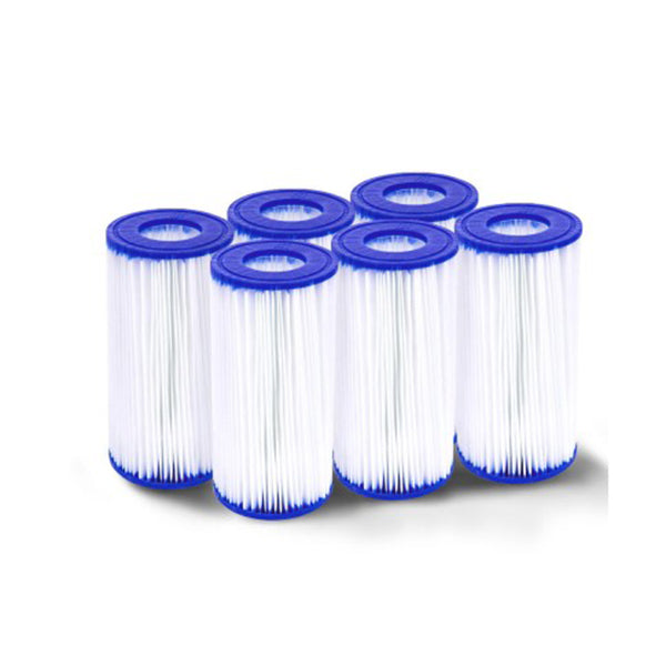 Set of 6 Bestway Pool Filter Cartridge 10.6cm*20.3cm