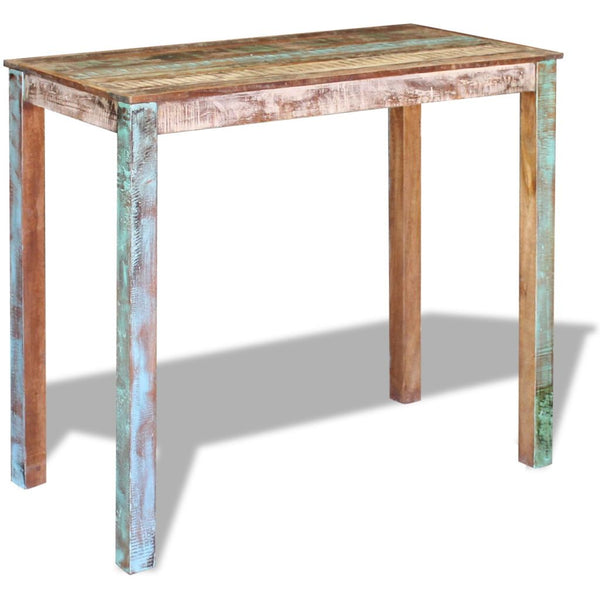 Bar Table Solid Reclaimed Wood 115 x 60 x 107 Cm
