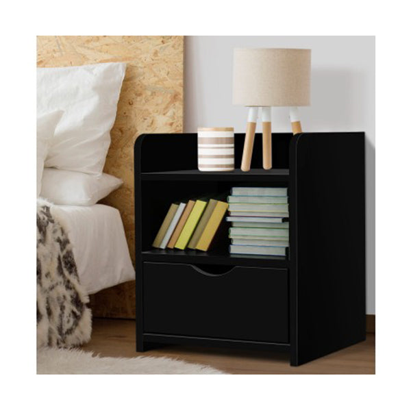 Bedside Table Drawer - Black